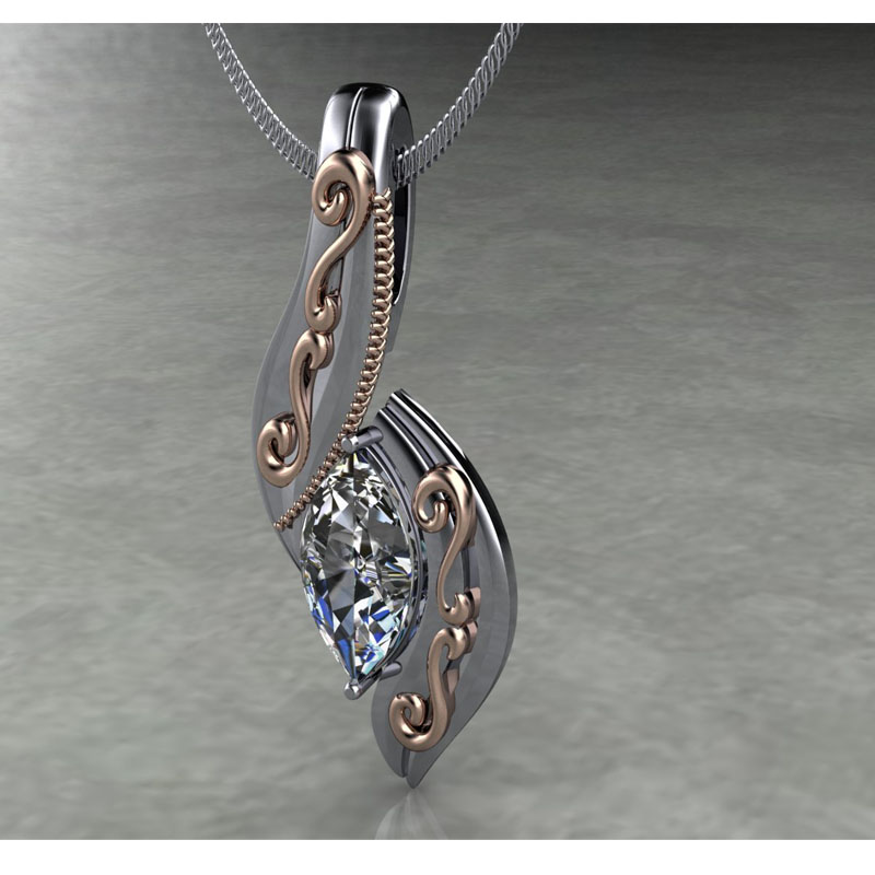 Custom Pendant using Marquise Diamond