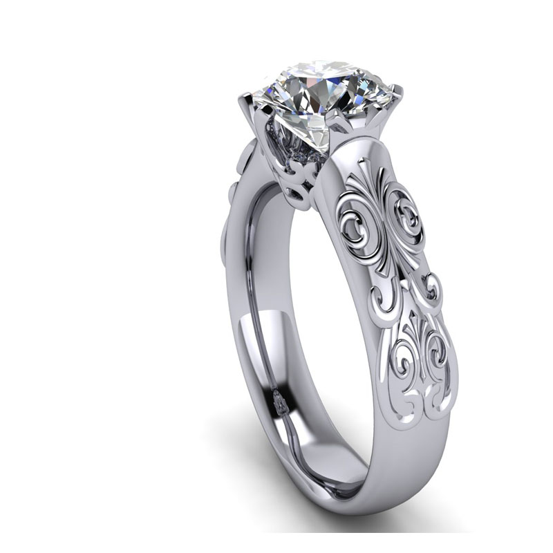 diamond regarding of white engagement gold rings custom ring best petite jewellery stone ideas