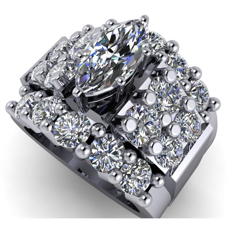 Custom Ring using Customers Diamonds