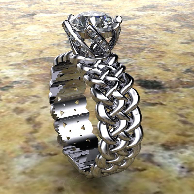 Custom Woven Engagement Ring