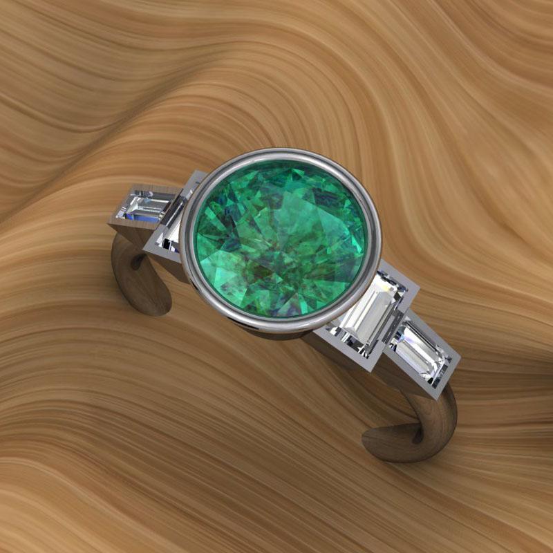 Custom Tsavorite Ring