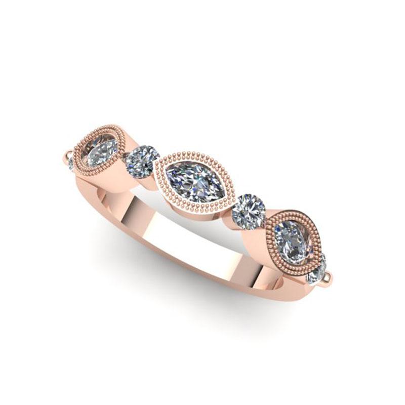 Custom Rose Gold Stack Ring