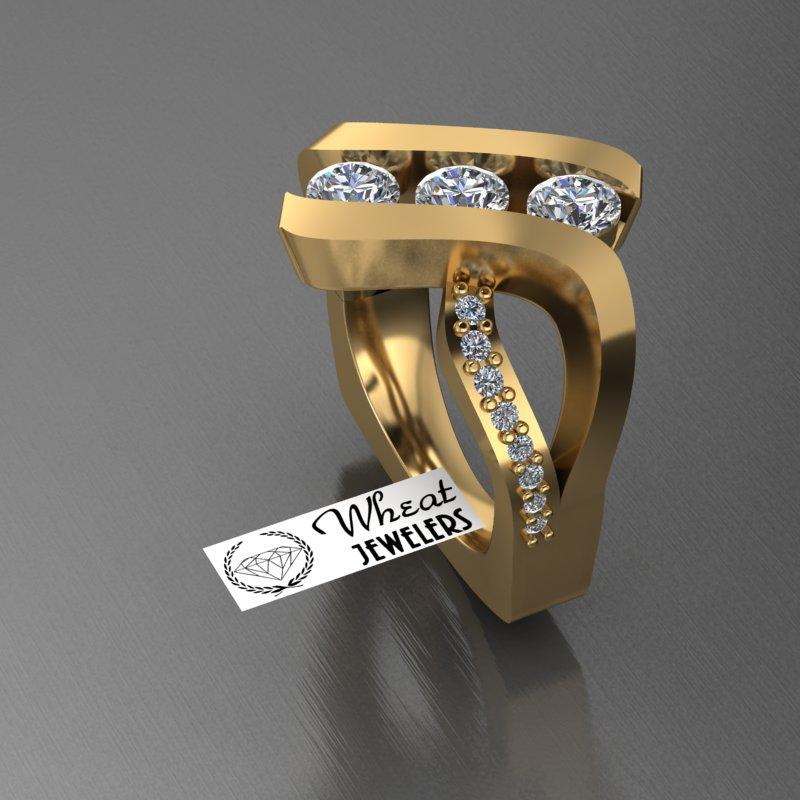 Custom Fashion Ring (using customers stones)
