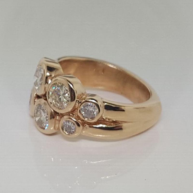 Custom Bezel Band using Customer's Diamonds