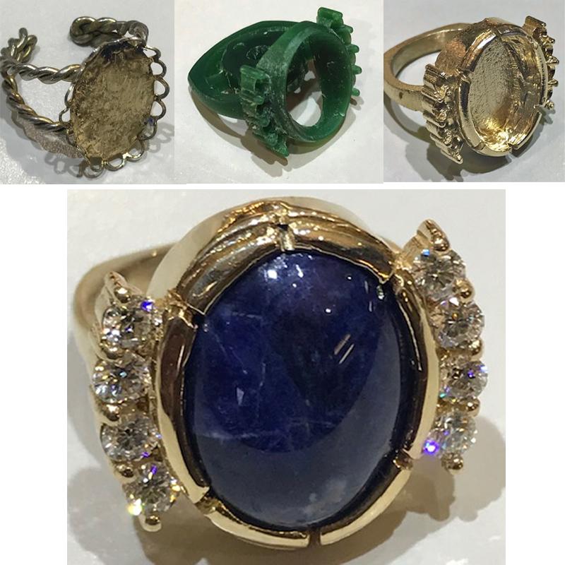 Custom Lapis Ring