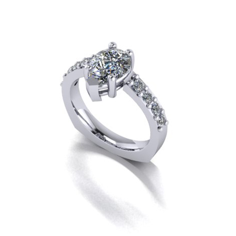 Custom Pear Shaped Ring