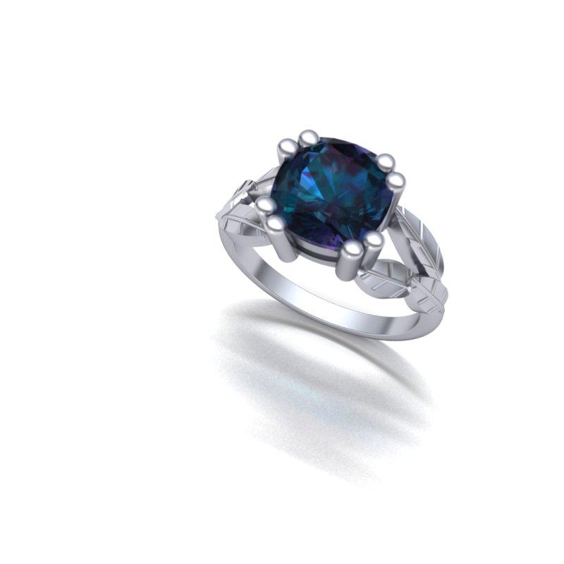 Custom Leaf Ring