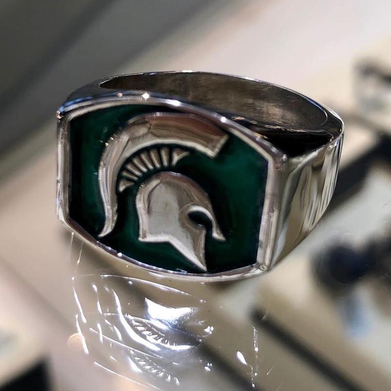 Gents MSU Spartan Signet RIng Custom