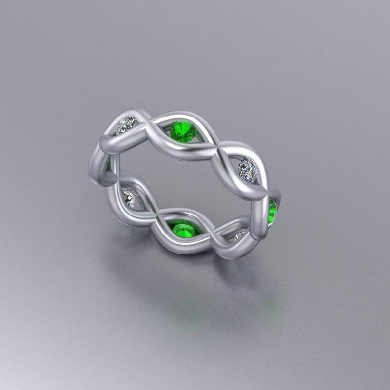 Custom Green and White Twist Band