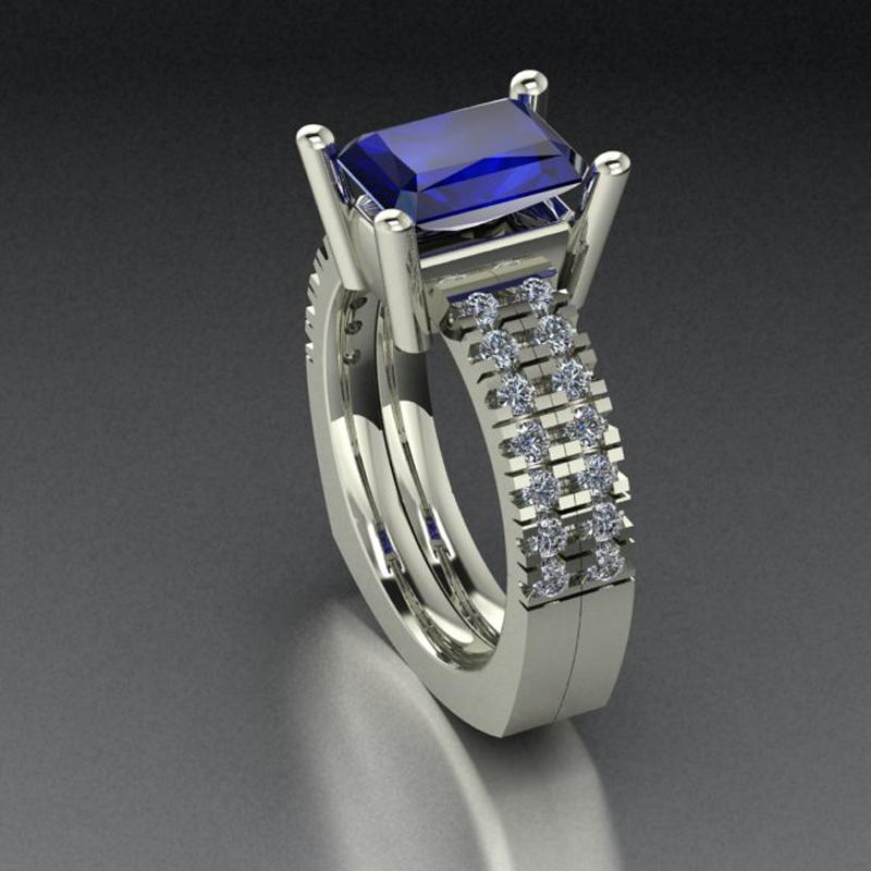Rendering Of Custom Sapphire RIng